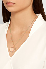 Rock Candy 18-karat gold quartz necklace