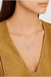 Rock Candy 18-karat gold, turquoise and diamond necklace