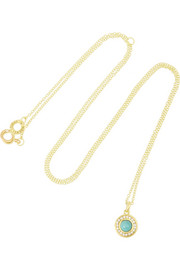 Lollipop 18-karat gold, turquoise and diamond necklace