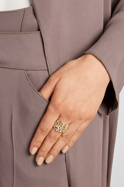 Glamazon Constellation 18-karat gold diamond ring