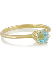 Rock Candy 18-karat gold topaz ring