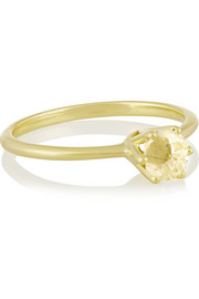 Rock Candy 18-karat gold quartz ring