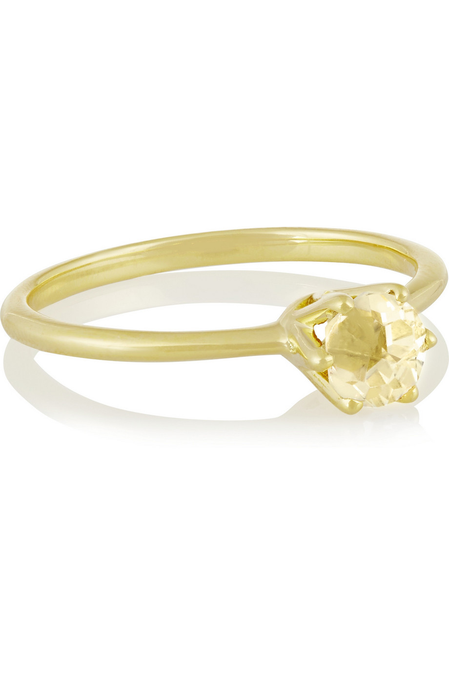 Ippolita Rock Candy 18-Karat Gold Quartz Ring, Pastel Yellow/Gold, Women's, Size: 6
