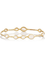 Rock Candy 18-karat gold mother-of-pearl bracelet