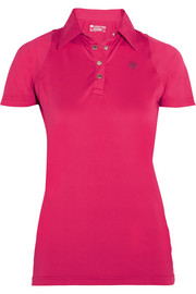 Cambria mesh-paneled stretch-jersey polo shirt