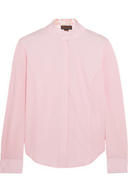 Triumph Liberty stretch-piqué and cotton-blend poplin show shirt