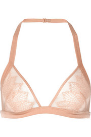Kiki de Montparnasse Esprit tulle, stretch-lace and satin soft cup bra