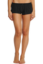 Intime silk-trimmed jersey pajama shorts