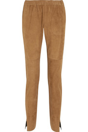 Plaisira suede tapered pants