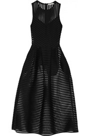 Maje Rire mesh-striped jersey dress