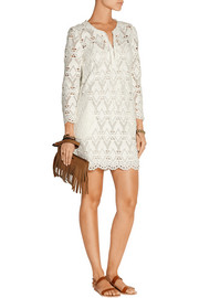 Rive macramé lace mini dress