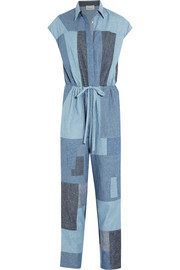 3.1 Phillip Lim Patchwork cotton-chambray jumpsuit