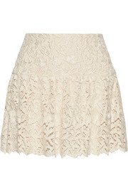 Jayce guipure lace mini skirt