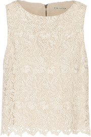 Amal guipure lace top