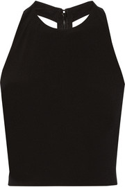 Alice + Olivia Cropped stretch-jersey top
