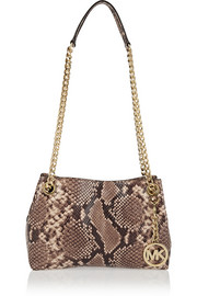 MICHAEL Michael Kors Jet Set Messenger medium snake-effect leather shoulder bag