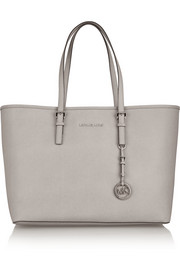 Jet Set Travel medium textured-leather tote