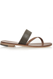 Alberta stingray and leather sandals