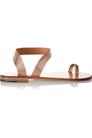 Angela metallic leather sandals