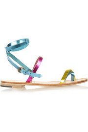 Anna metallic leather sandals
