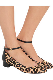 Esther leopard-print calf hair Mary Jane flats