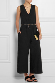 Swiss-dot cotton jumpsuit