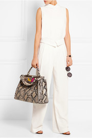 Fendi Peekaboo large python and crocodile tote