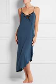 La Perla Primula lace-trimmed stretch-modal jersey nightdress