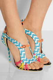 Liberty printed leather sandals