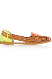 Sophia Webster Phoenix Fluoro patent-leather flats