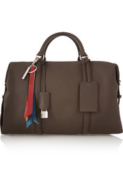 Boston textured-leather weekend bag