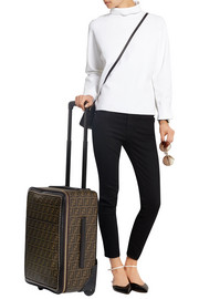 Fendi Printed faux textured-leather travel trolley