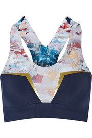 Neva Crop printed stretch sports bra
