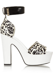 Nicholas Kirkwood Elaphe and leather platform sandals