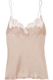 Carine Gilson Lace-trimmed silk-satin camisole