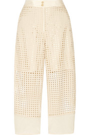 Dipso laser-cut cotton culottes