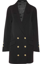 Double-breasted stretch-wool twill coat