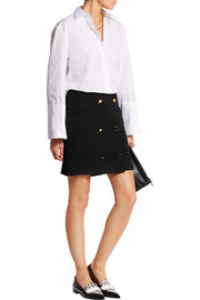 Crepe mini skirt