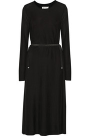 Maison Margiela Belted stretch-jersey dress