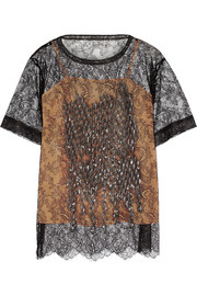Maison Margiela Embellished lace top