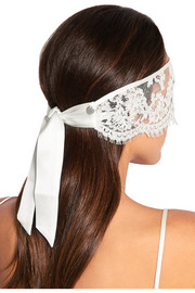 Lace and silk-satin blindfold