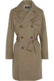 Saint-Germain cotton-blend canvas trench coat