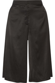 Stretch-satin culottes