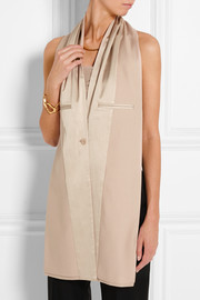 Satin and gabardine scarf
