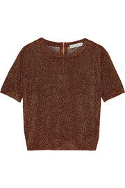 Kos Metal metallic stretch-knit top