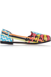 Phoenix Zig Zag leather flats