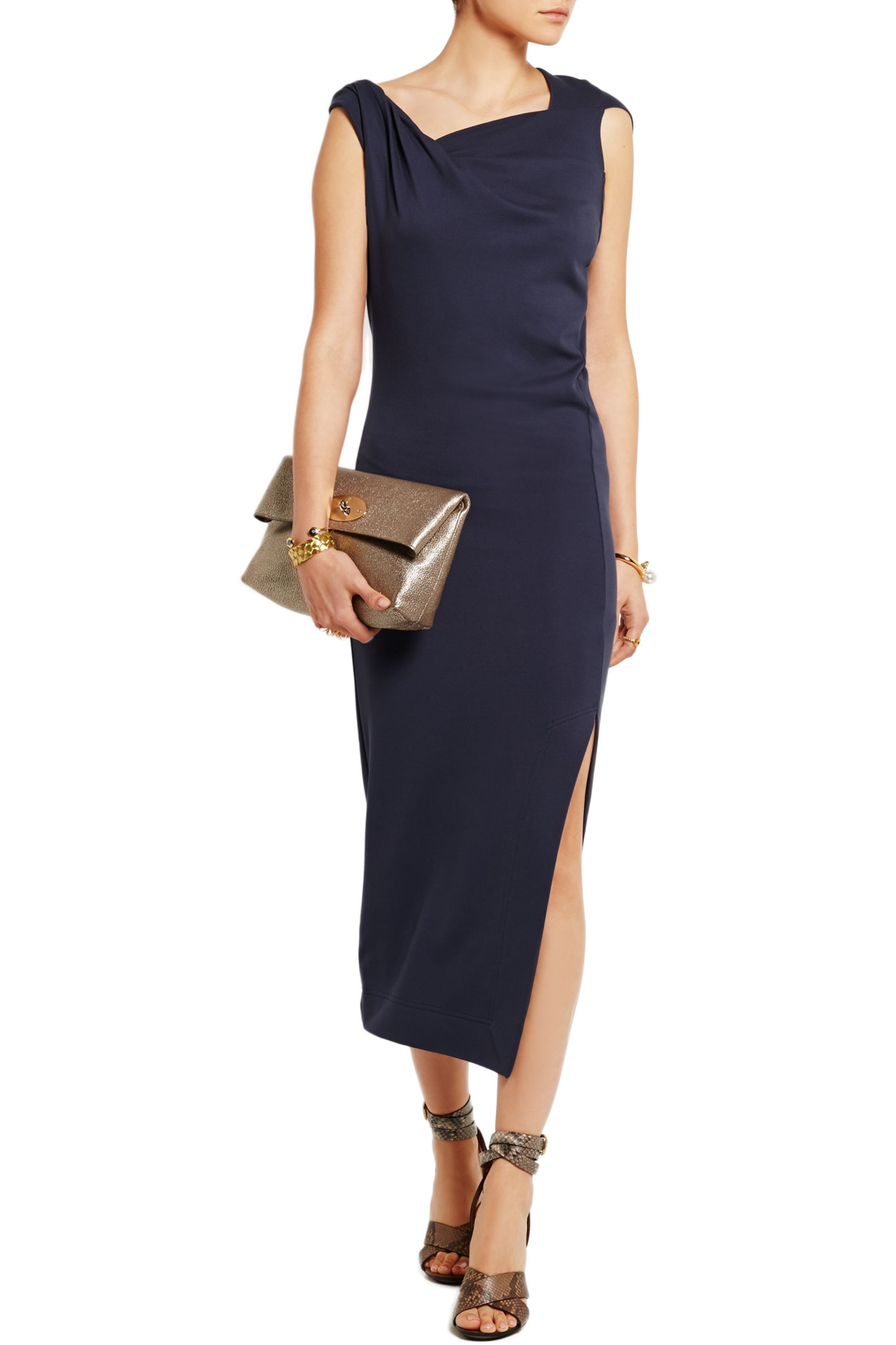 Vivienne Westwood Anglomania Country draped stretch-jersey dress