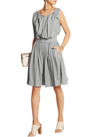 Gardner pleated crepe dress