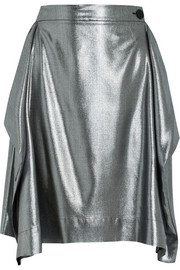 Heathcote metallic twill skirt