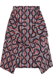 Heathcote squiggle-print cotton-blend skirt
